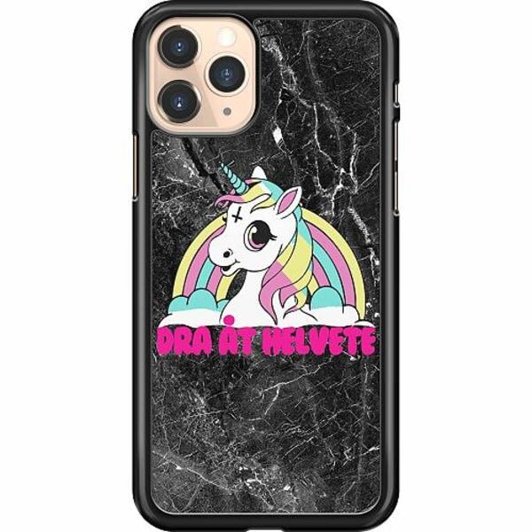 Apple iPhone 11 Pro Hard Case (Svart) Unicorn - Dra Åt @!#
