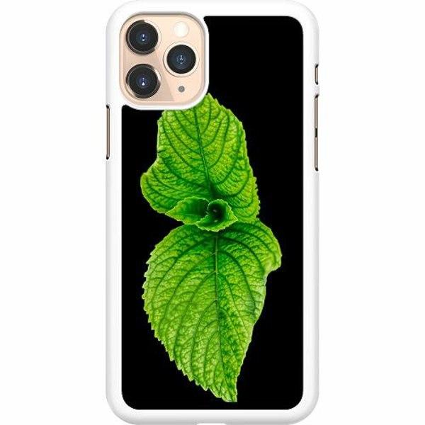 Apple iPhone 12 Pro Max Hard Case (White) Mint Green Posy