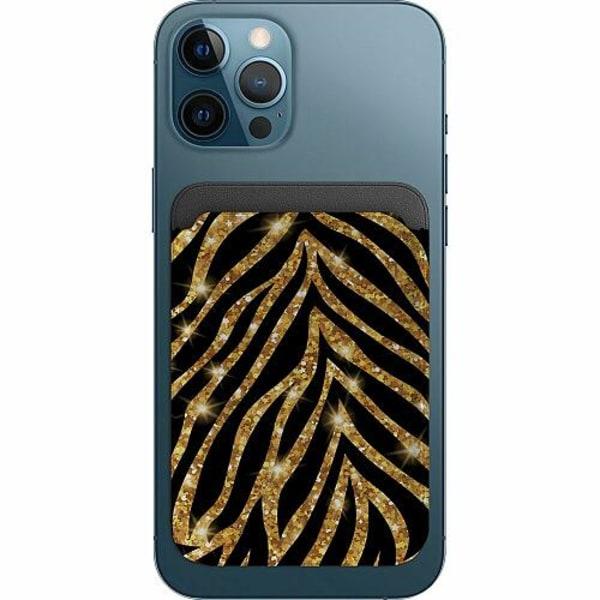 Apple iPhone 12 Pro Korthållare med MagSafe -  Gold & Glitter