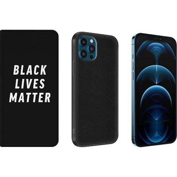 Apple iPhone 12 Pro Magnetic Wallet Case Black Lives Matter