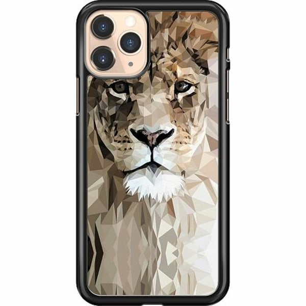 Apple iPhone 12 Pro Hard Case (Black) Abstract Lion