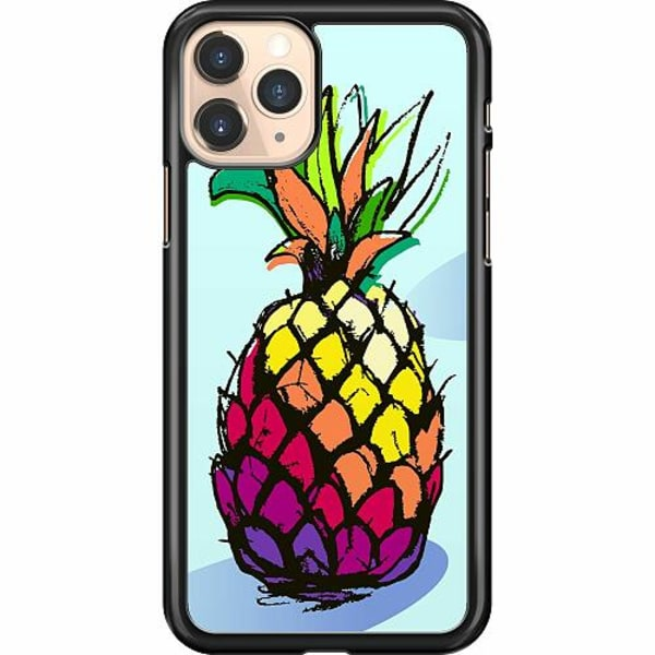 Apple iPhone 11 Pro Hard Case (Svart) Pineapple Contour