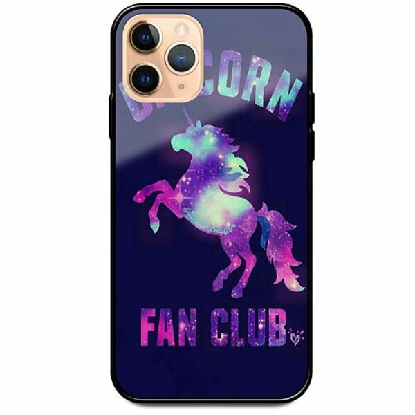 Apple iPhone 12 Pro Svart Mobilskal med Glas Badass Unicorn