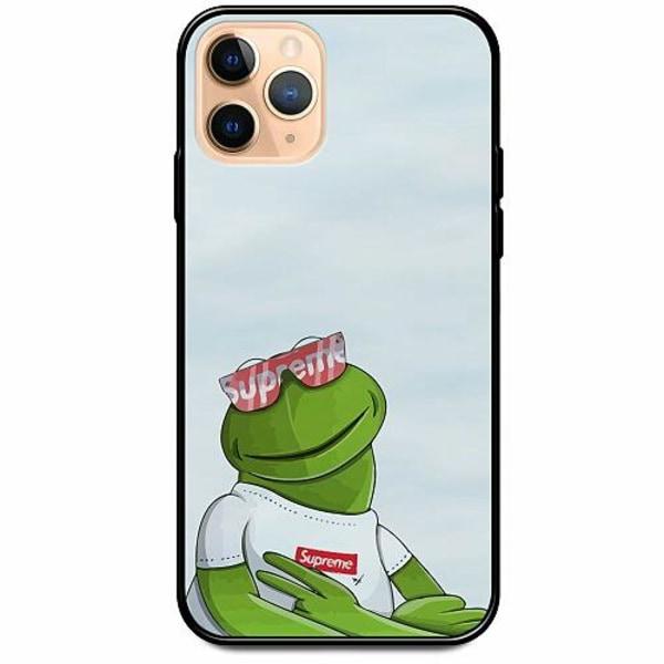 Apple iPhone 12 Pro Svart Mobilskal med Glas Kermit SUP