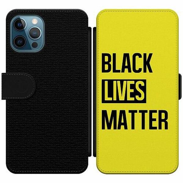 Apple iPhone 12 Pro Wallet Slim Case Black Lives Matter
