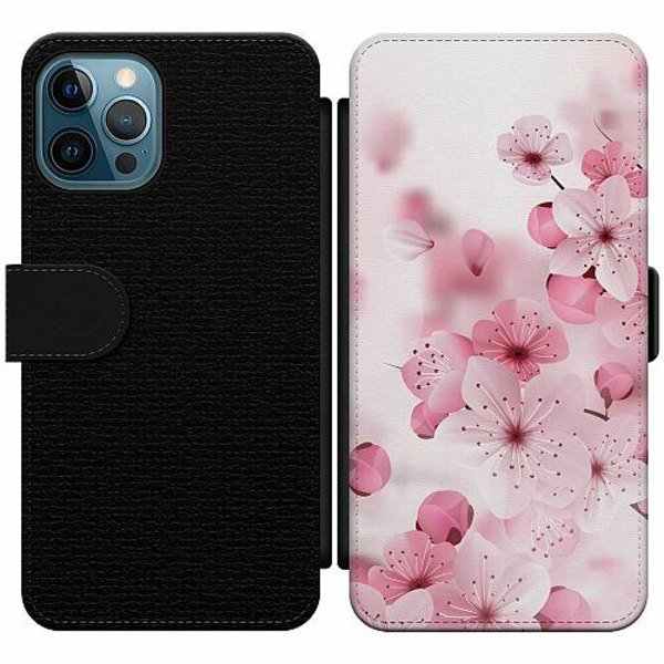Apple iPhone 12 Pro Wallet Slim Case Cherry Blossom