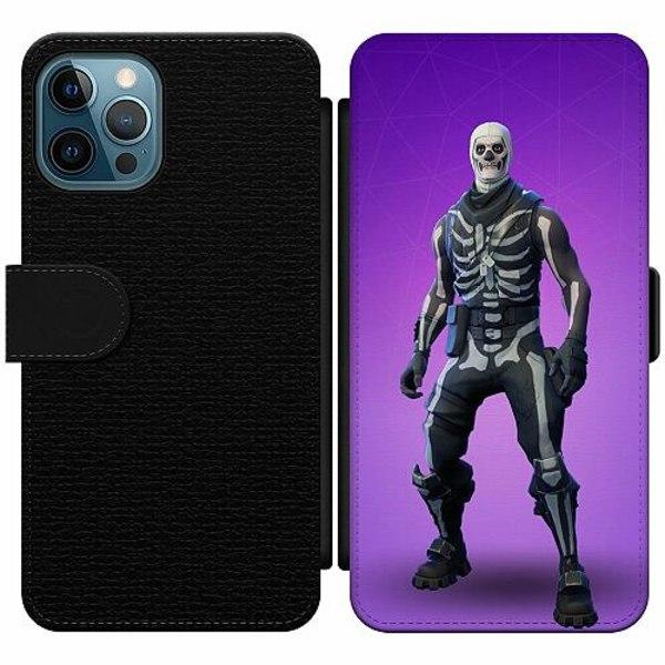 Apple iPhone 12 Pro Wallet Slim Case Fortnite Skull Trooper
