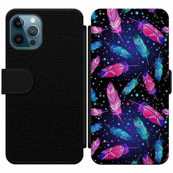 Apple iPhone 12 Pro Wallet Slim Case Galactic Feathers