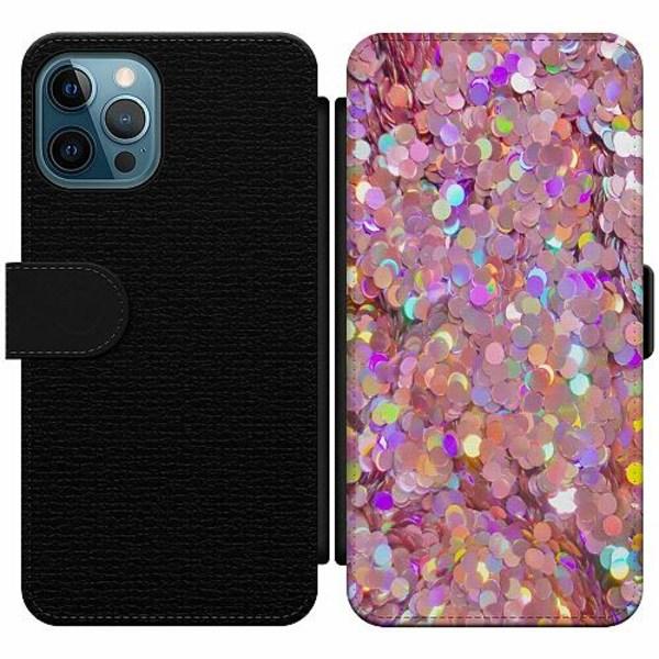 Apple iPhone 12 Pro Wallet Slim Case Glitter