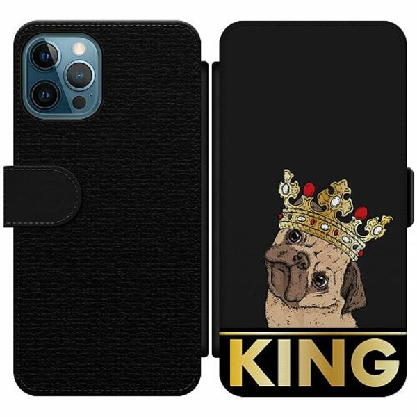 Apple iPhone 12 Pro Wallet Slim Case KING of all Pugs