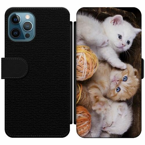 Apple iPhone 12 Pro Wallet Slim Case Kittens and Yarn