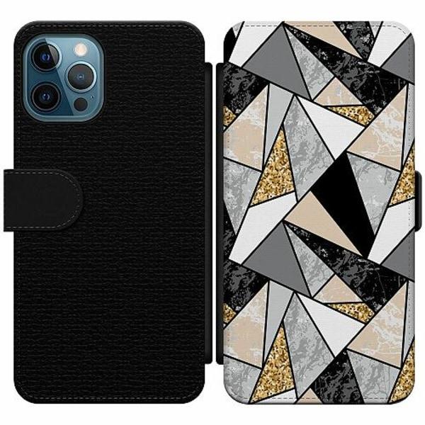 Apple iPhone 12 Pro Wallet Slim Case Marble Print