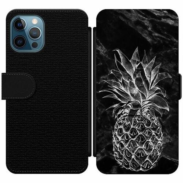 Apple iPhone 12 Pro Wallet Slim Case Marmor Ananas
