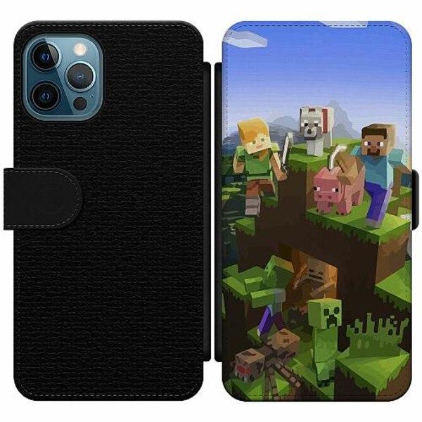 Apple iPhone 12 Pro Wallet Slim Case MineCraft