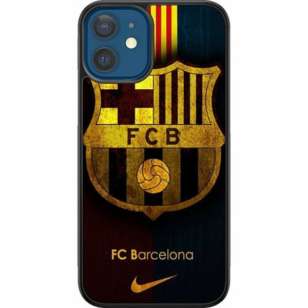 Apple iPhone 12 Soft Case (Svart) FC Barcelona