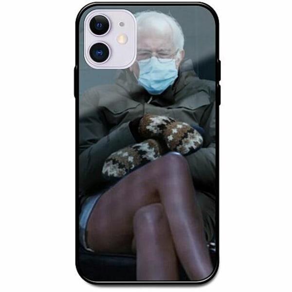 Apple iPhone 12 Svart Mobilskal med Glas Bernie Sanders Meme