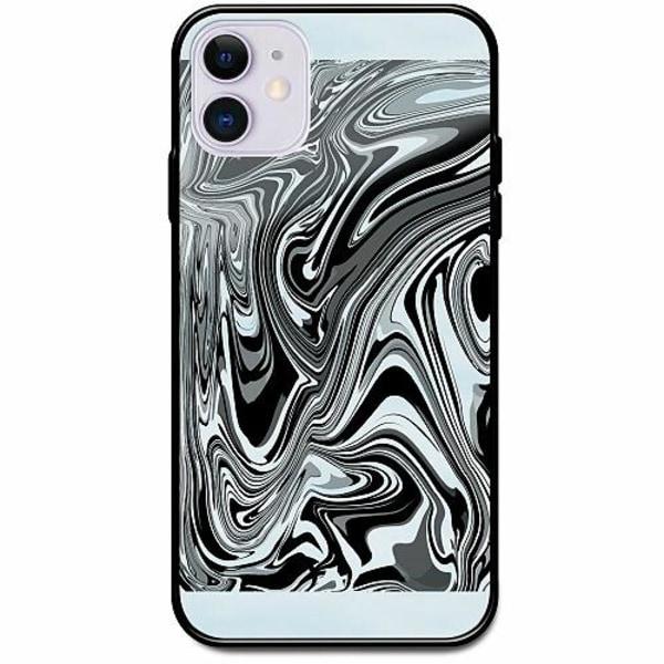 Apple iPhone 12 Svart Mobilskal med Glas Pattern