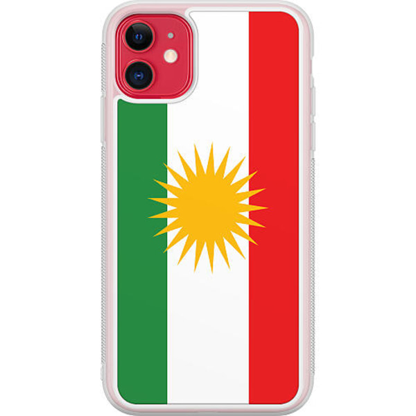 Apple iPhone 12 Transparent Mobilskal Kurdistan