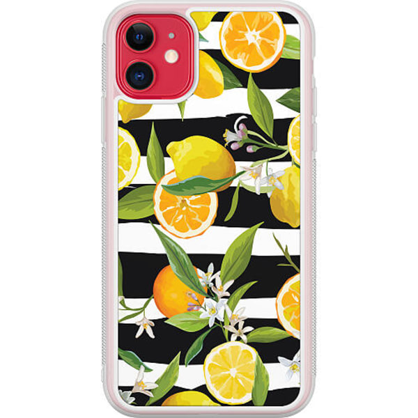 Apple iPhone 12 Transparent Mobilskal Lemon Party