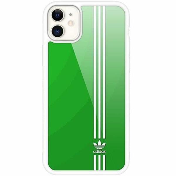 Apple iPhone 12 mini Vitt Mobilskal med Glas Adidas