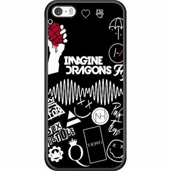 Apple iPhone 5 / 5s / SE Soft Case (Svart) Rock