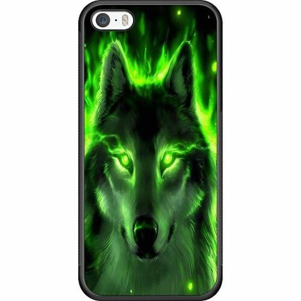 Apple iPhone 5 / 5s / SE Soft Case (Svart) Statement Wolf 1055