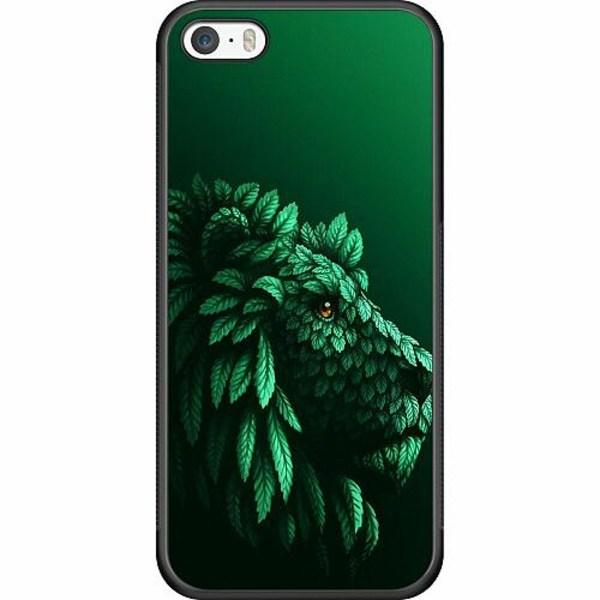 Apple iPhone 5 / 5s / SE Soft Case (Svart) Vegan Lion