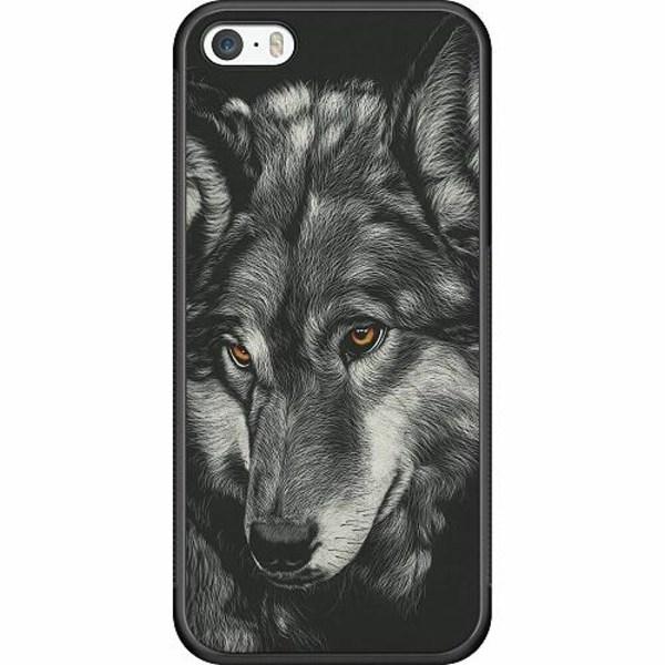 Apple iPhone 5 / 5s / SE Soft Case (Svart) Wolf / Varg
