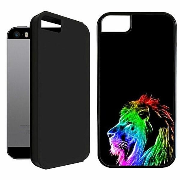 Apple iPhone 5 / 5s / SE Duo Case Svart Lion