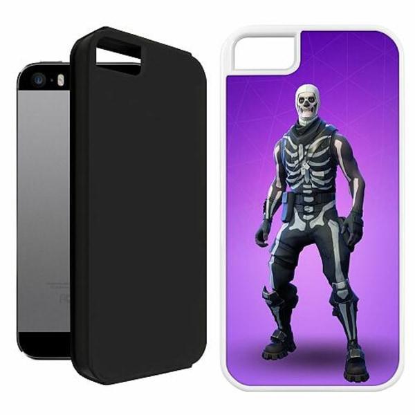 Apple iPhone 5 / 5s / SE Duo Case Vit Fortnite Skull Trooper