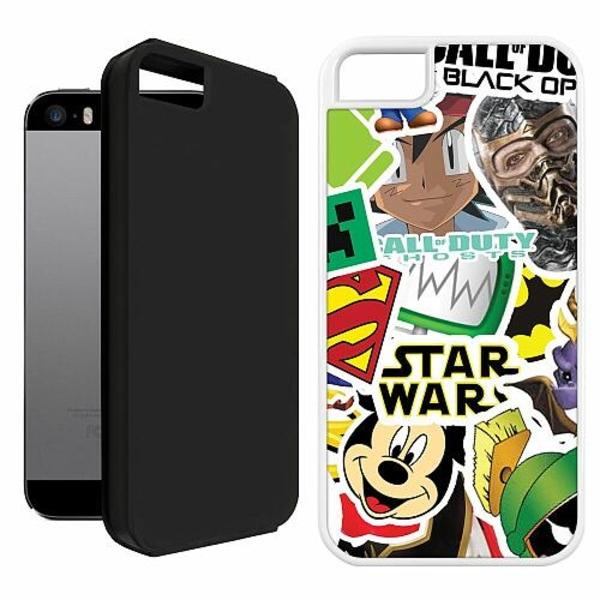 Apple iPhone 5 / 5s / SE Duo Case Vit Stickers
