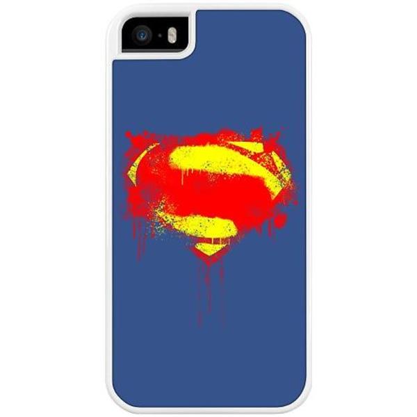 Apple iPhone 5 / 5s / SE Duo Case Vit Superman Splat