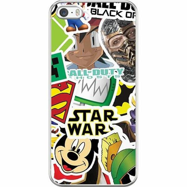 Apple iPhone 5 / 5s / SE Hard Case (Transparent) Stickers