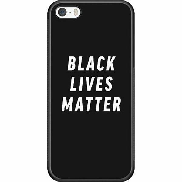Apple iPhone 5 / 5s / SE Soft Case (Svart) Black Lives Matter