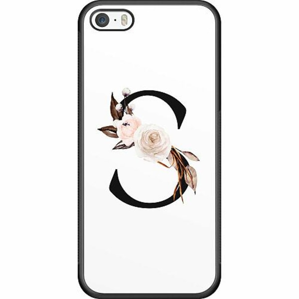 Apple iPhone 5 / 5s / SE Soft Case (Svart) Bokstäver