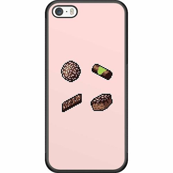 Apple iPhone 5 / 5s / SE Soft Case (Svart) FIKA pixel art