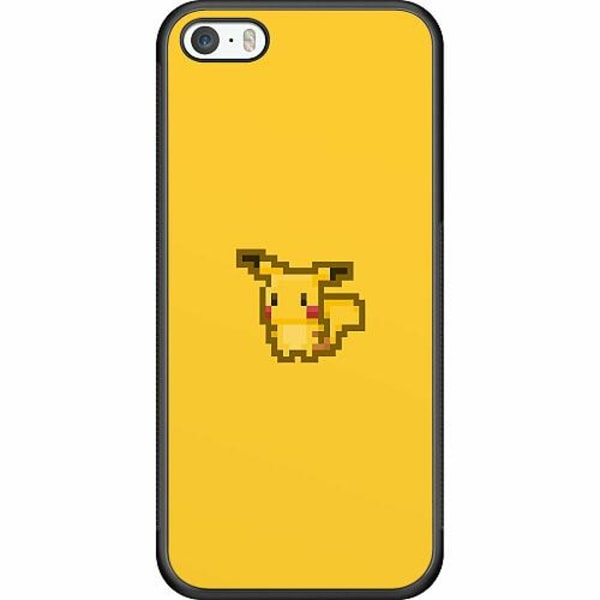 Apple iPhone 5 / 5s / SE Soft Case (Svart) Pixel art Pokémon