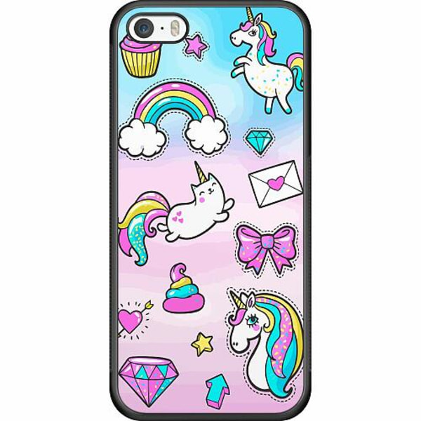 Apple iPhone 5 / 5s / SE Soft Case (Svart) UNICORN