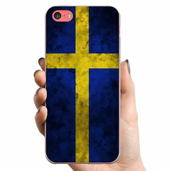 Apple iPhone 5c TPU Mobilskal Sverige Flagga