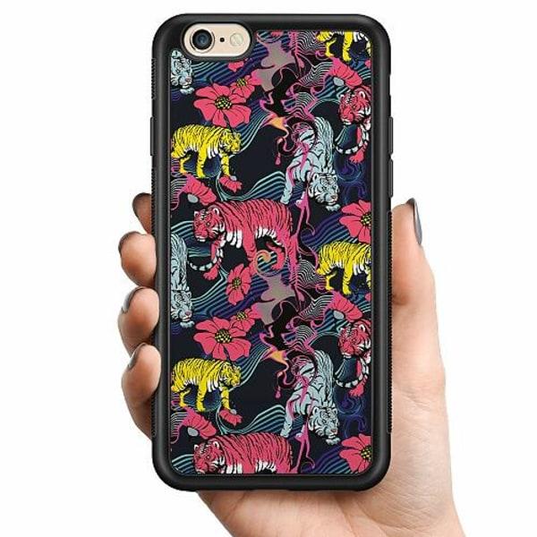 Apple iPhone 6 / 6S Billigt mobilskal - Grumpy Tigers on Waves
