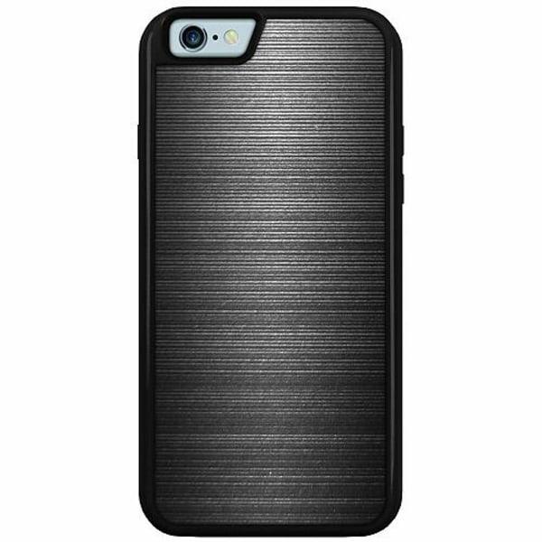 Apple iPhone 6 / 6S Duo Case Svart Brushed Metal