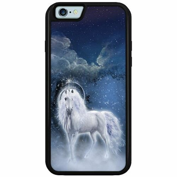 Apple iPhone 6 / 6S Duo Case Svart Unicorn