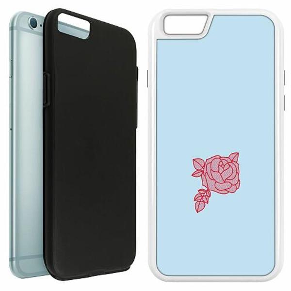 Apple iPhone 6 / 6S Duo Case Vit Rose