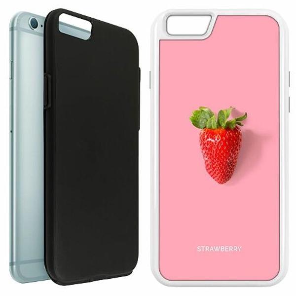 Apple iPhone 6 / 6S Duo Case Vit Strawberry