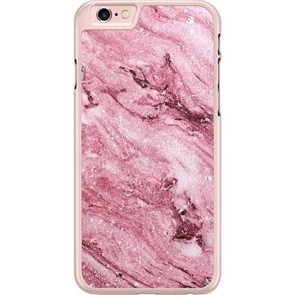 Apple iPhone 6 / 6S Hard Case (Transparent) Glitter Marble