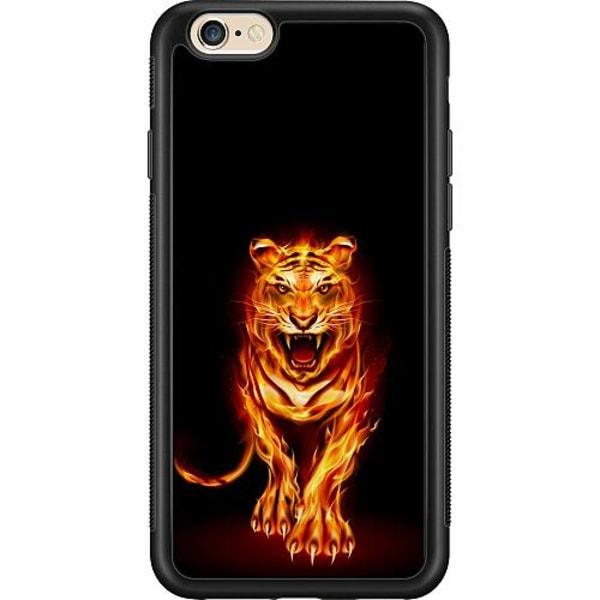 Apple iPhone 6 / 6S Billigt mobilskal - Fire Tiger