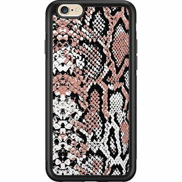 Apple iPhone 6 / 6S Billigt mobilskal - Rosé Snake