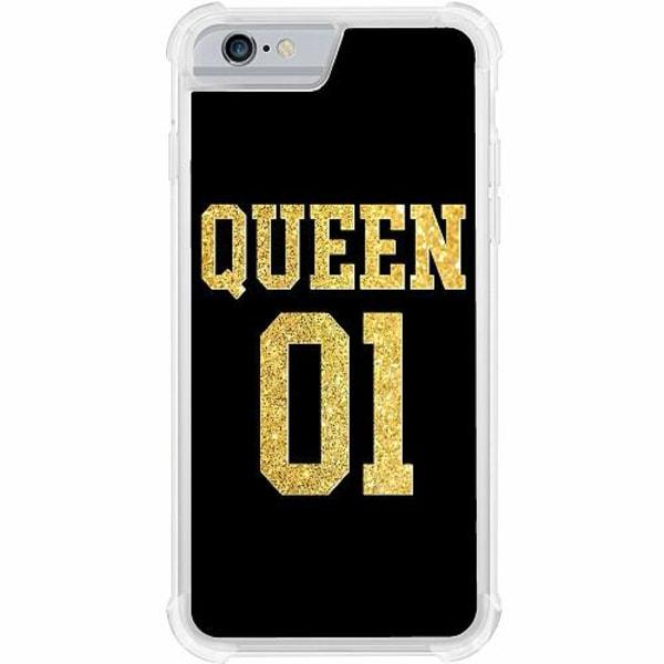 Apple iPhone 6 / 6S Tough Case Queen 01 Black Gold
