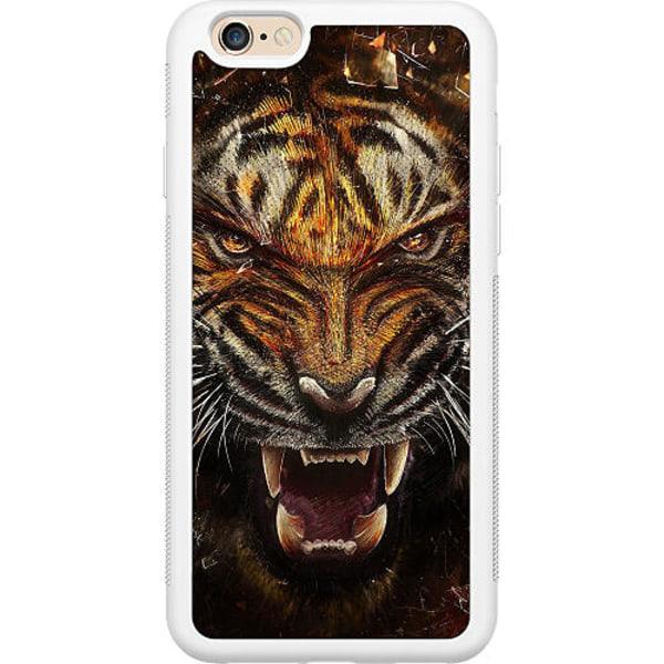 Apple iPhone 6 / 6S Vitt Mobilskal Angry Tiger
