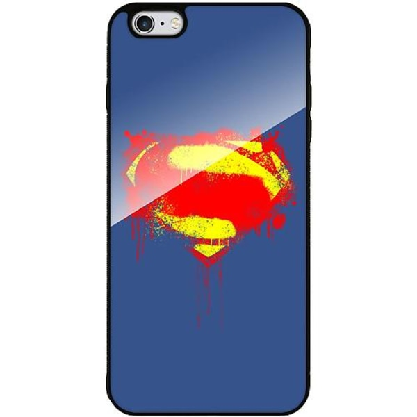 Apple iPhone 6 Plus / 6s Plus Mobilskal med Glas Superman Splat